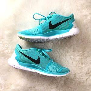 🖤 NIKE RARE Tiffany Blue Free Run+ Sneakers